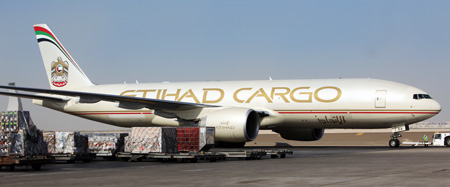 Freighter ready for pushback