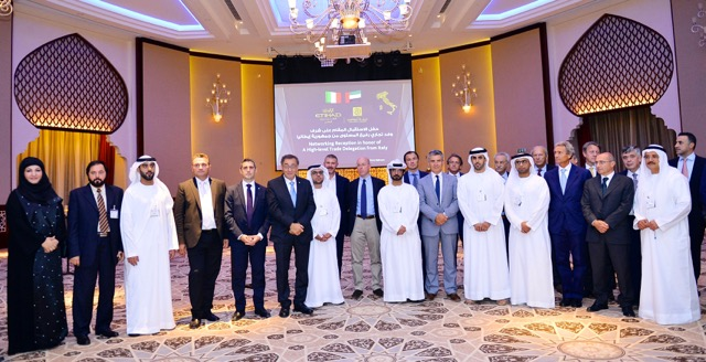 Italian and Emirati business representatives