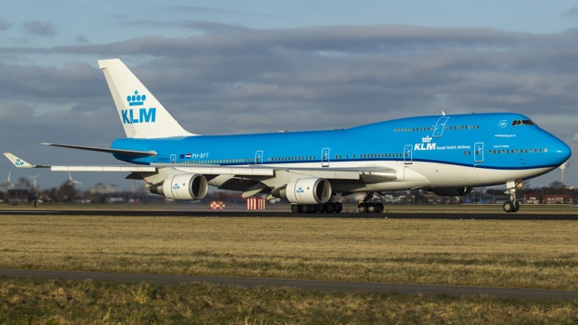 KLM 747 new livery