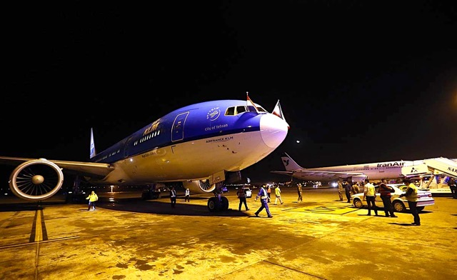 KLM has begun flying to Tehran four times week after a three-year hiatus