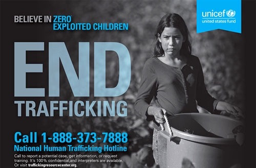 UNICEF End trafficking