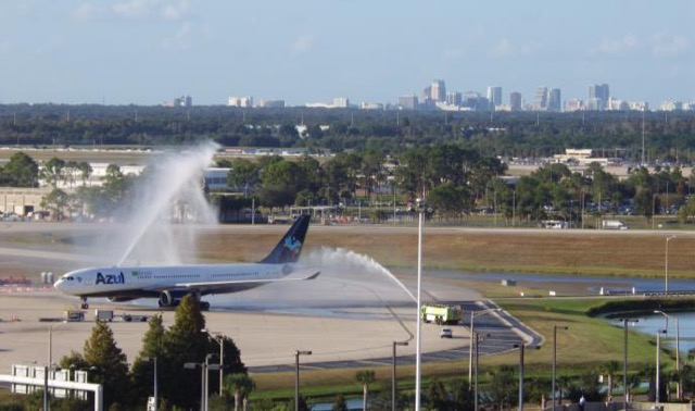 Azul arriving at MCO