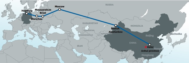 DB new route to China