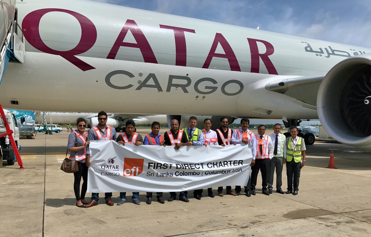 EFL charters Qatar Cargo from Colombo