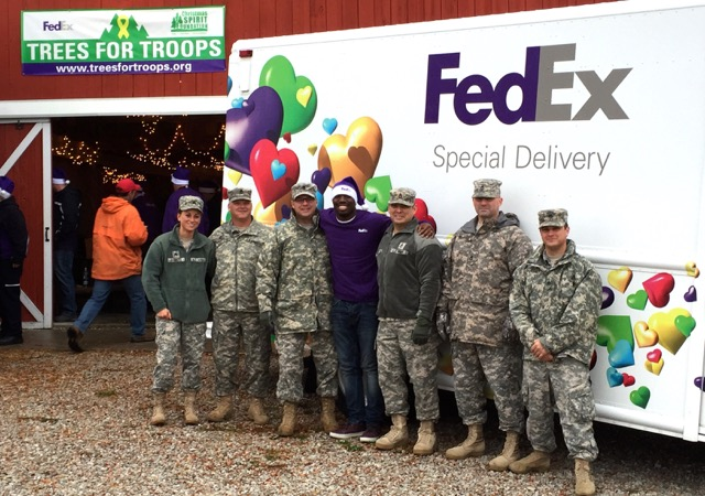 FedEx trees for troops