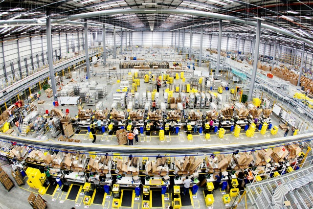 Interior of Amazon Hemel Hempstead