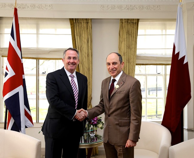 Liam Fox and Al Baker