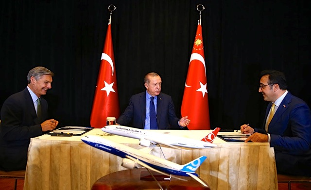 Boeing and Turkish Airlines with Erdogan